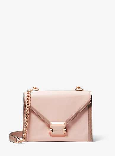 7634d568c039 Whitney Small Two-tone Leather Convertible Shoulder Bag | Michael ...