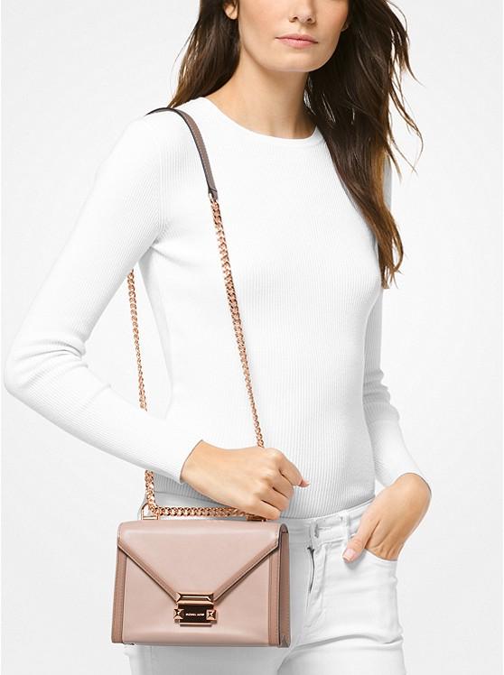 d1dea9e4720f Whitney Small Two-tone Leather Convertible Shoulder Bag | Michael Kors