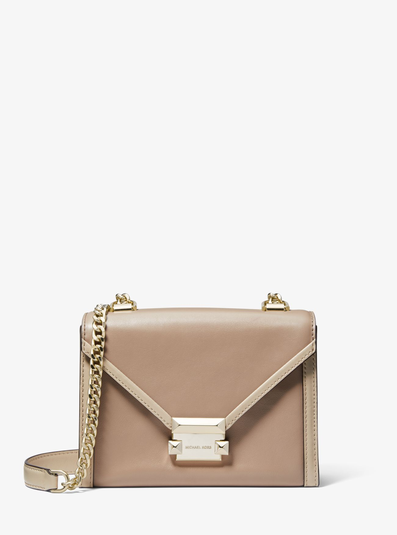 58429ef1d10a Whitney Small Two-tone Leather Convertible Shoulder Bag | Michael Kors
