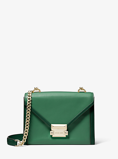 589857b1f97d Whitney Small Two-tone Leather Convertible Shoulder Bag | Michael ...