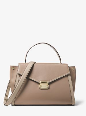 Whitney Large Leather Satchel  f684586d8642f