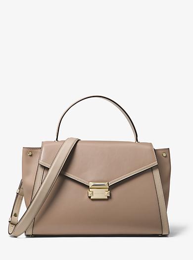Whitney Large Leather Satchel  a55b8992c0b