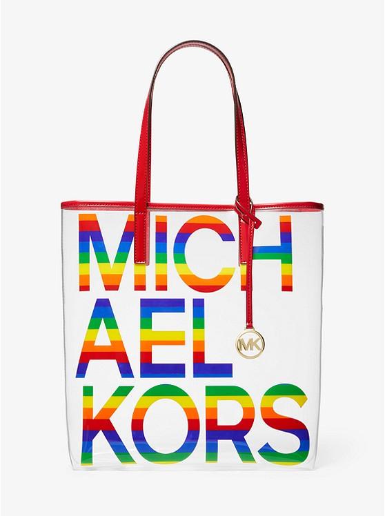 bfb4d5e59b The Michael Large Graphic Logo Print Pvc Tote Bag   Michael Kors