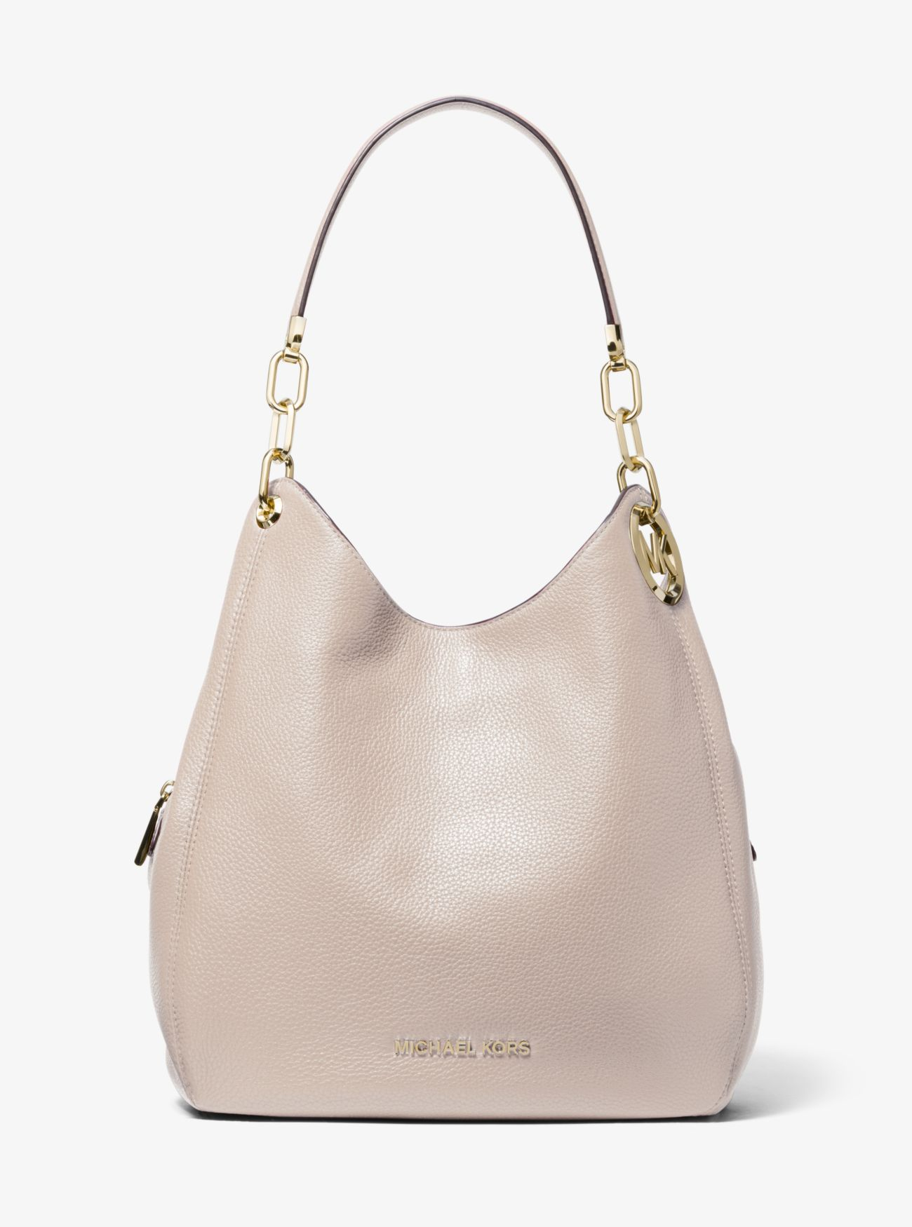 Lillie Large Pebbled Leather Shoulder Bag