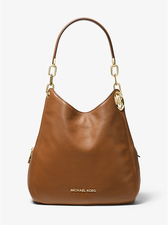 Lillie Large Pebbled Leather Shoulder Bag by Michael Michael Kors