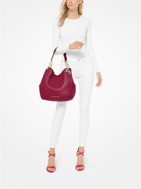 Michael Kors Lillie Large Pebbled Leather Shoulder Bag ab