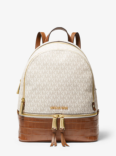 404d008f7aead5 Rhea Medium Logo and Leather Backpack · michael michael kors · Rhea Medium  ...