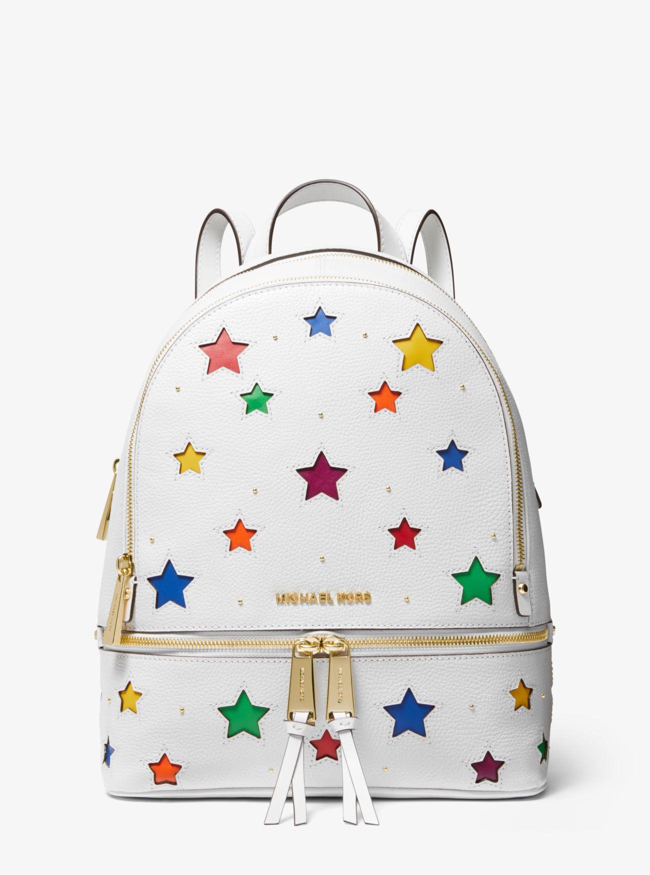 8ce5cac7a021b Rhea Medium Star-Cutout Pebbled Leather Backpack ...