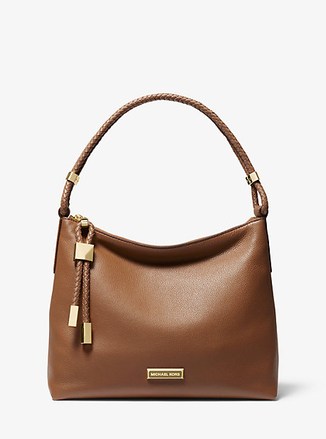 a8252934949b Lexington Medium Pebbled Leather Shoulder Bag. michael michael kors ...