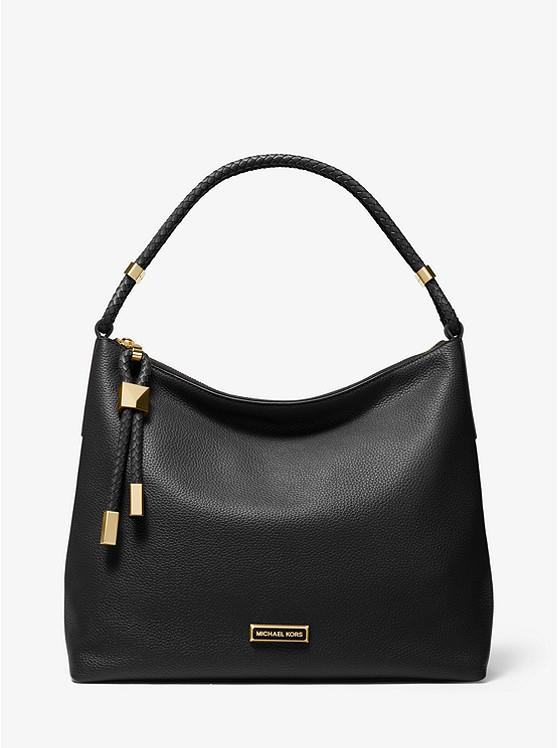 Lexington Large Pebbled Leather Shoulder Bag
