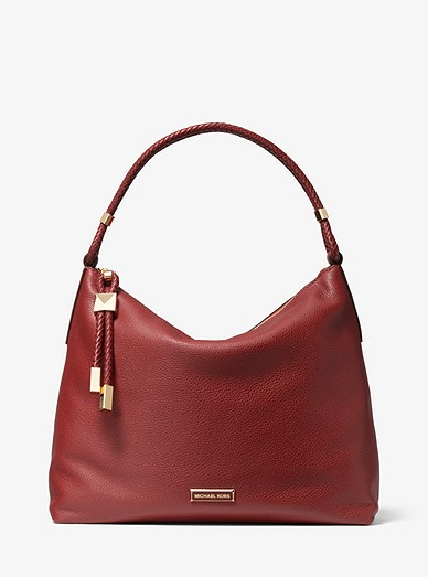 Lexington Large Pebbled Leather Shoulder Bag Michael Kors