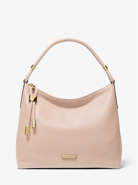 Lexington Large Pebbled Leather Shoulder Bag | Michael Kors