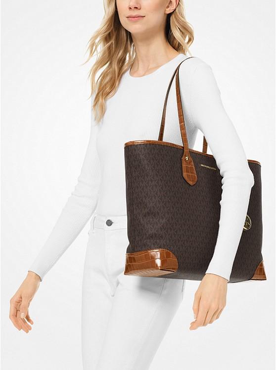 5b168cb252 Eva Large Logo Tote Bag | Michael Kors