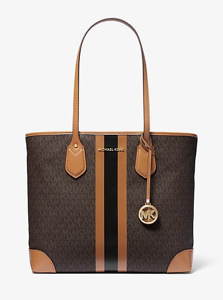 마이클 마이클 코어스 Michael Michael Kors Eva Large Logo Stripe Tote Bag