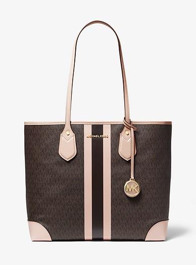 162cb5e6bdd6 Eva Large Logo Stripe Tote Bag | Michael Kors