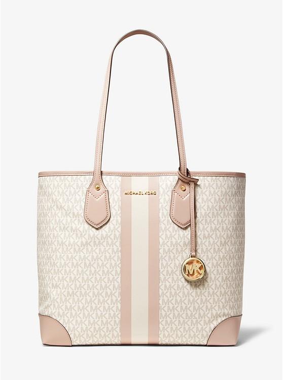 9d07eb52a6 Eva Large Logo Stripe Tote Bag | Michael Kors