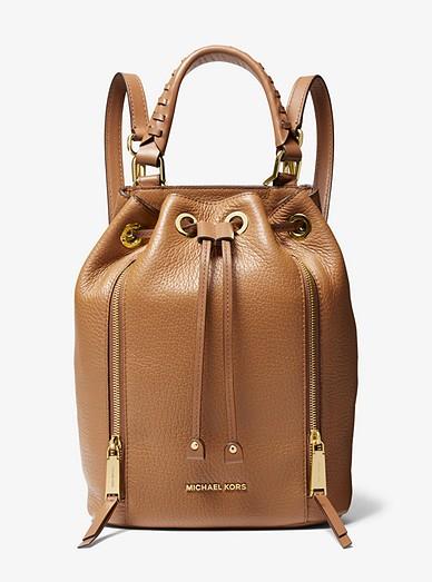 171de986ab14 Viv Medium Pebbled Leather Bucket Backpack | Michael Kors