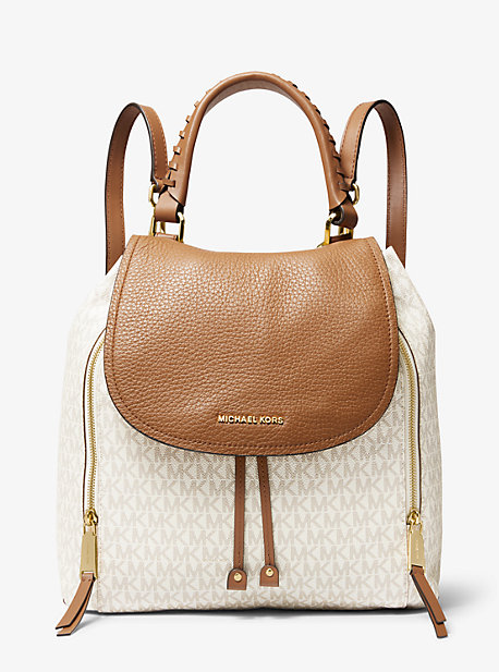 c80fb903d2f743 Viv Large Logo and Leather Backpack. michael michael kors ...