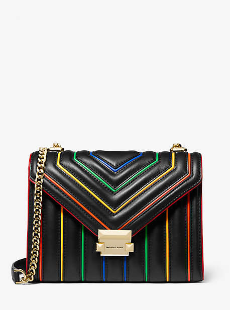 88c1195c94011 Whitney Large Rainbow Quilted Leather Convertible Shoulder Bag. michael  michael kors ...
