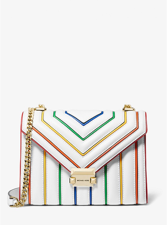 Whitney Large Rainbow Quilted Leather Convertible Shoulder Bag