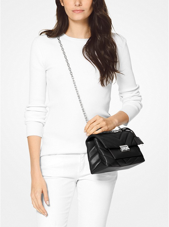 Cece Medium Quilted Leather Convertible Shoulder Bag