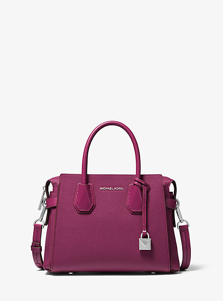 87b3573ce6ab Mercer Small Pebbled Leather Belted Satchel. michael michael kors ...