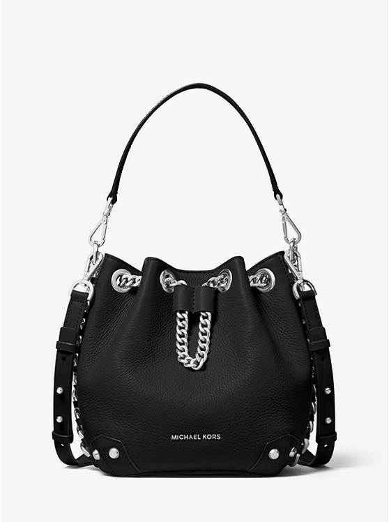 Alanis Small Pebbled Leather Bucket Bag by Michael Michael Kors