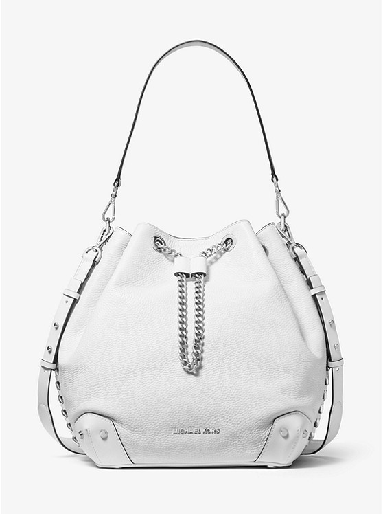 Alanis Large Pebbled Leather Bucket Bag by Michael Michael Kors