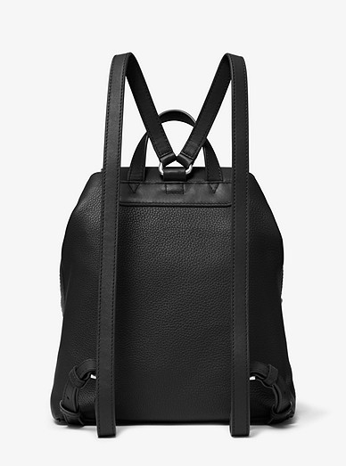 996a2717f7c7 Raven Medium Pebbled Leather Backpack | Michael Kors