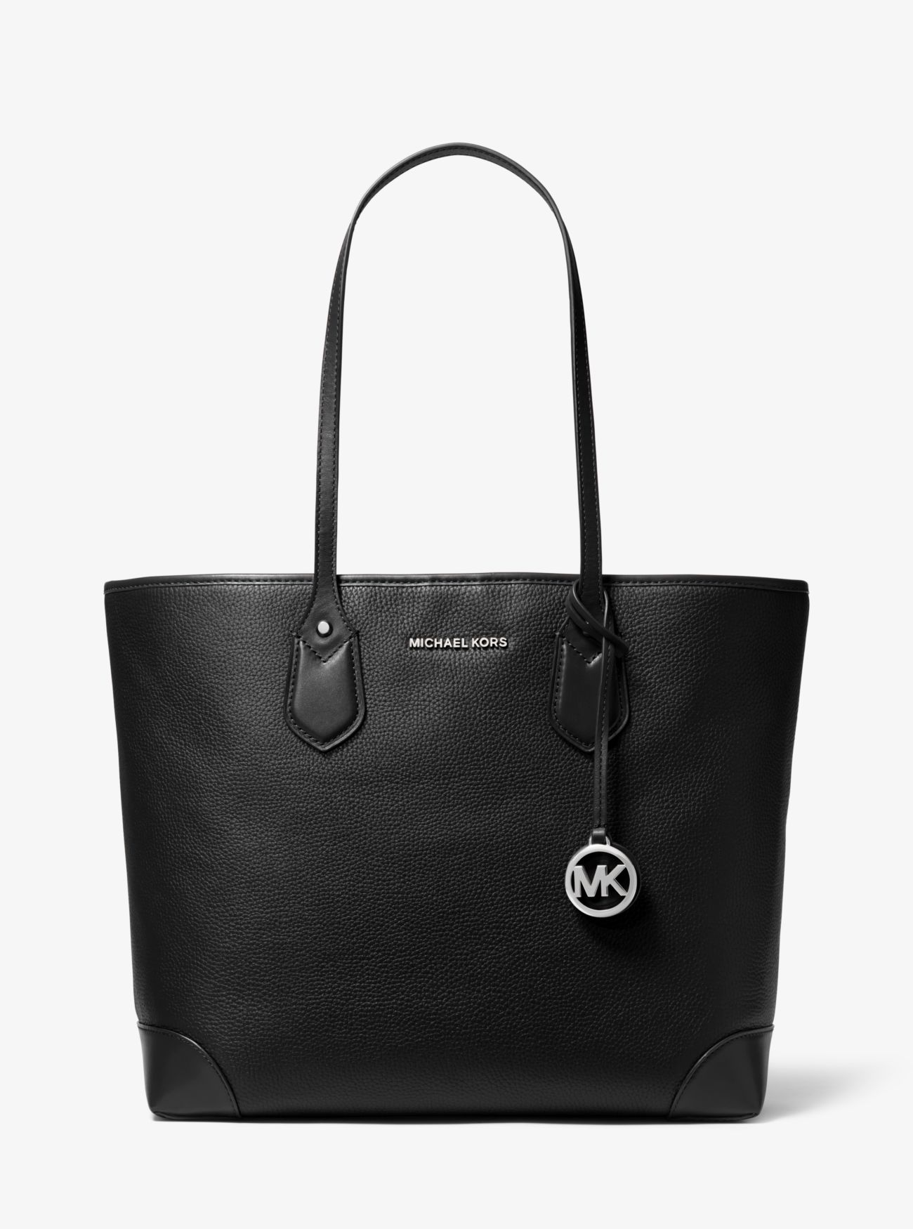 2543adbc89 Eva Large Pebbled Leather Tote Bag | Michael Kors