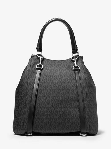 b37162090b5b Viv Large Logo And Leather Backpack | Michael Kors