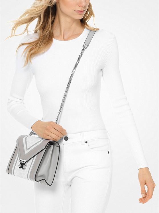 Whitney Large Logo Convertible Shoulder Bag