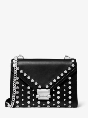 Whitney Large Studded Leather Convertible Shoulder Bag by Michael Michael Kors