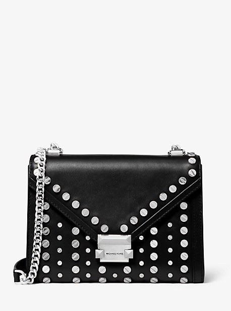 f733030b9 Whitney Large Studded Leather Convertible Shoulder Bag