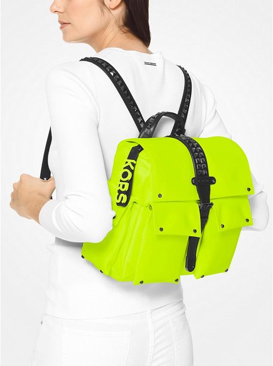 Olivia Medium Studded Neon Satin Backpack