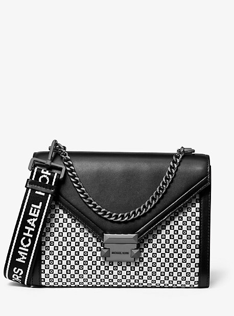 015fc88220b1b5 Whitney Large Checkerboard Logo Convertible Shoulder Bag