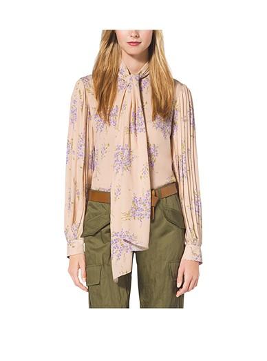 fa00a46f80a2e9 Floral-print Silk-georgette Blouse | Michael Kors