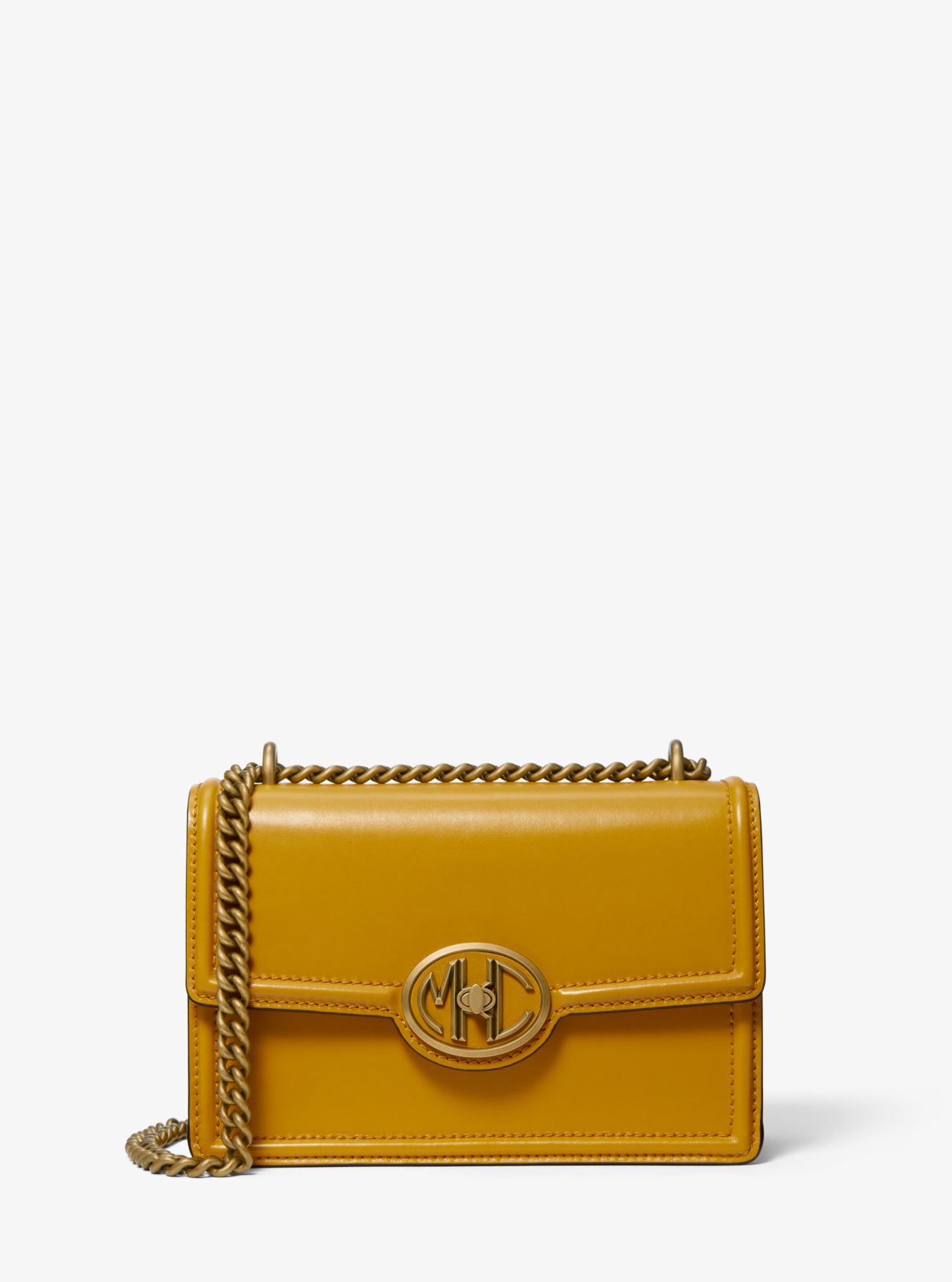 Monogramme Leather Chain Shoulder Bag Michael Kors