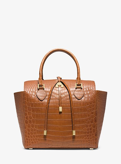 d570f0581266 Miranda Crocodile Large Tote Bag | Michael Kors