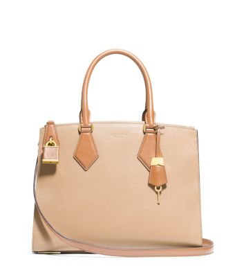 Casey Large Leather Satchel | Michael Kors