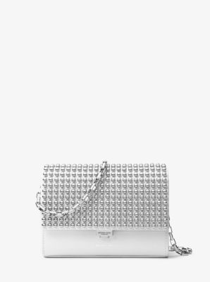 27caf446f9d Yasmeen Small Studded Leather Clutch | Michael Kors