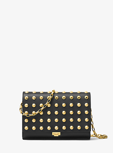d99c48b371e4f0 Yasmeen Studded French Calf Leather Clutch · michael kors collection ·  Yasmeen ...