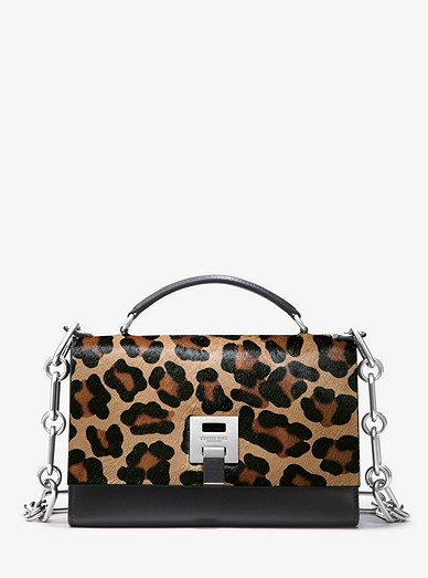 29c8b084b2f7 Bancroft Leopard Calf Hair Shoulder Bag | Michael Kors