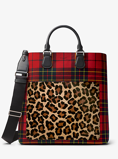 Dandridge Tartan And Leopard Tote Quickview Michael Kors Collection