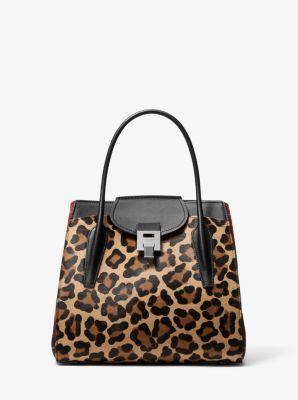 befa274843f4 Bancroft Large Leopard and Tartan Satchel