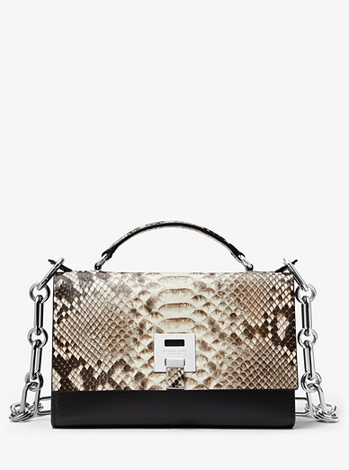 e14f2b16afff Bancroft Python And Calf Leather Shoulder Bag | Michael Kors