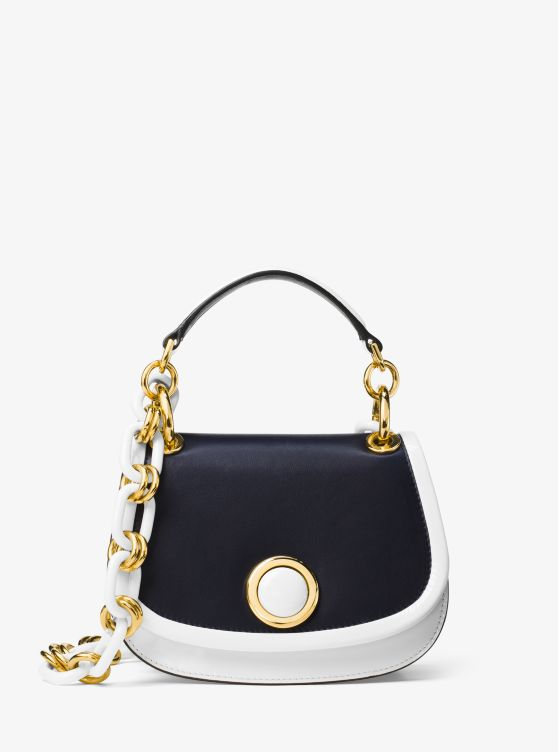 Goldie Small French Calf Leather Shoulder Bag by Michael Kors Collection