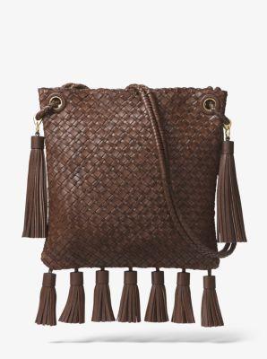 8a7bc9bea39e Hutton Woven Leather Tassel Crossbody - BRANCH - 31H8GHTM5L