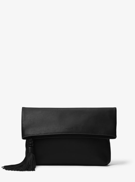 Loren Leather Foldover Clutch