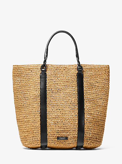 6548ce7438b8 Antibes Extra-Large Raffia Tote Bag. michael kors collection ...